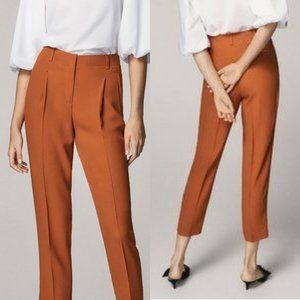 NEW Massimo Dutti Orange High Rise Trousers Pants
